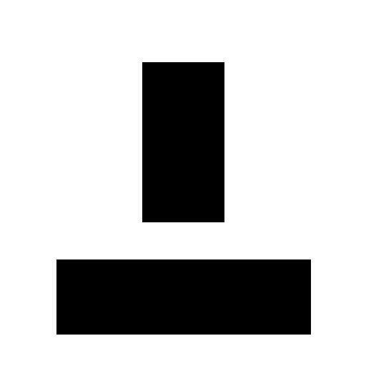 Černá ikona - Standi univerzální velikost