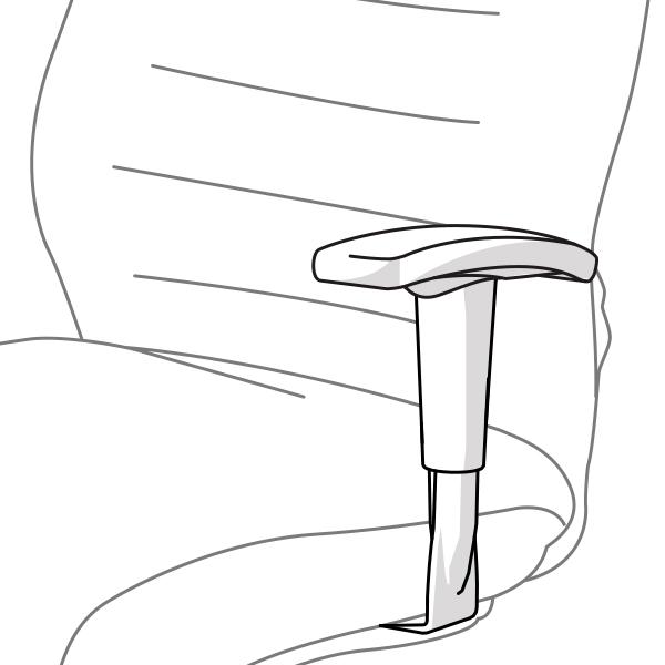 Univerzální dispečerské křeslo Bruto - pohled područky grafika